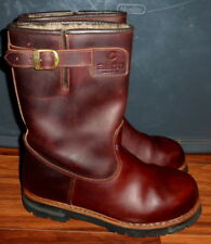 RARE MENS ALICO ITALY CAPE TOWN WELLINGTON SHEARLING LEATHER BOOTS SIZE 11.5
