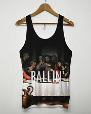 Ballin All Over Printed Vest Summer Holiday Beach Funny Jesus Religion Tank Top