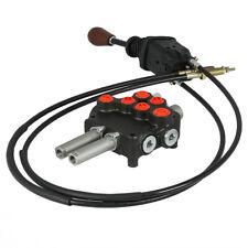 P80 Remote Control Valve Kit: 2 Spool Valve 21GPM + Joystick + Cables 25MPa