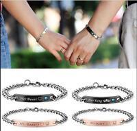 King and Queen Couples Bracelet Set Loves Bracelet Infinity Bracelet Jewelry
