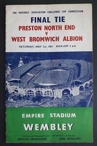 1954 FA Cup Final - PRESTON NORTH END v WEST BROMWICH ALBION football programme