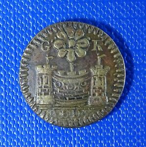 Georgian 1/2 Guinea Coin Weight with Teapot Counterstamp - Exquisite - Very Rare
