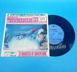 "Vintage 1965 Introducing The Thunderbirds TV 33rpm 7"" Mini Album Record"