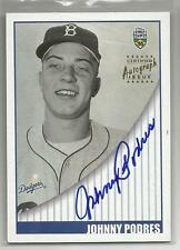 2002 Topps Super Teams Baseball Johnny Podres Autographed Card # STA-JPO (CSC)