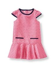 NWT Janie & Jack Girls CARIBBEAN ROSE Pink & Blue Dress 3-6 M VHTF