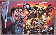 Evil Dead Ash vs Horror Villains Glossy Art Print 11 x 17 In Hard Plastic Sleeve