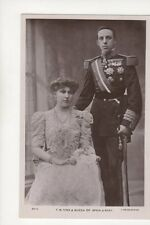 King & Queen Of Spain & Baby Vintage RP Postcard 139b