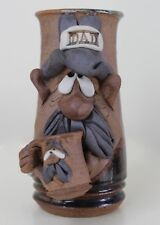 Mahon Ugly Face Mug DAD Stoneware Pottery Holding Small Mug 1980 Stein Excellent