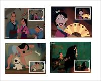 2019 DISNEY            MULAN           8  SOUVENIR SHEETS animation cartoons