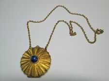 Vintage ESTEE LAUDER Gold TONE Metal SOLID Perfume PENDANT Necklace