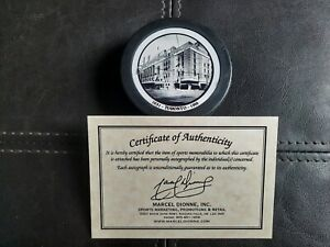 JOHNNY BOWER AUTOGRAPHED MAPLE LEAF GARDENS PUCK