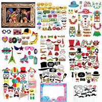 Christmas Photo Booth Props Frame New Year Wedding Birthday Hen Supplies Kit UK