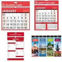 2021 Wall Calendar Slim Calender, Large Month to View Planner,Easy View Calendar