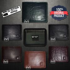 New Men G Star Raw Originals Leather Wallets Bifold Green Brown Black Maroon NIB