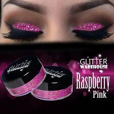 Raspberry Pink GlitterWarehouse Loose Cosmetic Glitter Powder Dust Eyeshadow