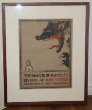 `The Dragon of Wantley, His Tale,` by Owen Wister JOHN STEWARDSON color poster