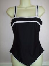 Black & White Mix High Back Swimsuit Size 12 Bust Shelf