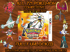Unlocked Pokemon Sun All 802 Shiny All Items Max Money And More