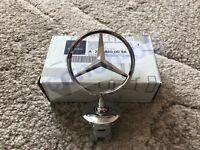 Mercedes Bonnet Raised Star Emblem Badge Chrome C E S CLK Class A2218800086