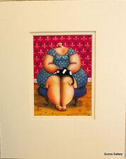 Sarah Jane szikora ART CARD montato pronto per incastrare una calda e Peloso momento
