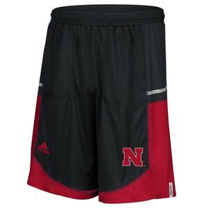 Nebraska Cornhuskers NCAA Adidas Men's Black Climalite Team Shorts