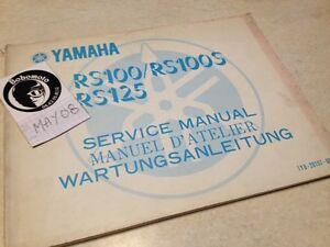 Yamaha RS100 RS100S RS125 Rs 100 125 1Y8 Worshop Servicio Manual Taller 1977