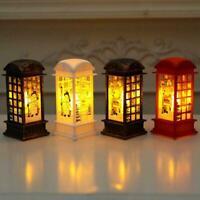 Vintage Christmas LED Light Up Lantern Xmas Santa Table Lamp Decor Gift C2A4