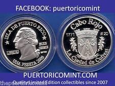 Silver PESETA CABO ROJO 2009 Puerto Rico Boricua Quarter 1/100 Plata