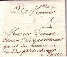 LOIR ET CHER-BLOIS 17-9-1739 - LETTRE AVEC LONG TEXTE - MARQUE LENAIN N°2.