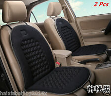 2x Car Seat Cushion Cover Bead Massage Therapy Lumbar Support Chair Cushions Pad