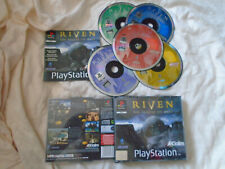 Riven: The Sequel To Myst PS1 (COMPLETE) black label Sony Playstation BIG BOX