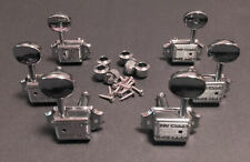 Guitar Tuner WILKINSON Vintage ROUND Style - 3 Per Side 3x3 TUNERS SET - CHROME