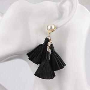 Unique Raffia Tassel Boutique Stud Earrings Girls and Ladies Statement Jewelry