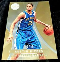 AUSTIN RIVERS 12-13 CERTIFIED MIRROR GOLD HOLO PARALLEL ROOKIE RC ROCKETS 23/25