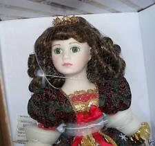 NIB FRANKLIN MINT PORCELAIN RENASSIANCE CHRISTMAS DOLL + Snowflake Ornament NRFB