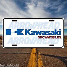 Kawasaki snowmobile vintage style license plate