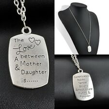 Family Gift The Love Between a Mother and Daughter is Charm Necklace Pendant New