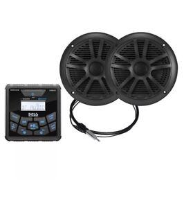 Boss Audio Marine In Dash Gauge Digital Media AM/FM/BT Receiver w/6.5 Speakers