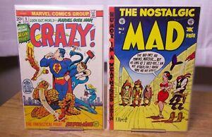CRAZY! #3  Marvel Comics  VF & The Nostalgic MAD #2 EC Comics Good Condition