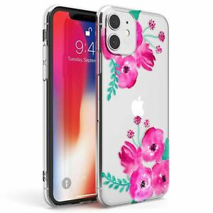 Floral Watercolors Slim TPU Case for iPhone Fashion Nature Lilly Fashion Gorg