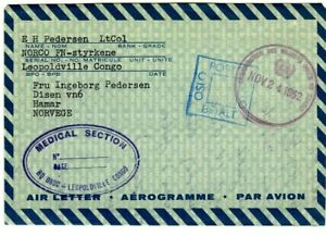 United Nations peacekeeping cover  ONUC Congo  1962 norveg officer