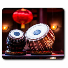 Computer Mouse Mat - Tabla Drum Music India Folk Office Gift #2645