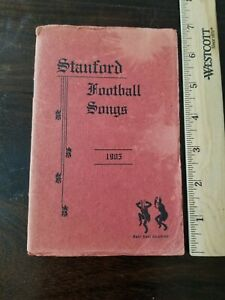 1905 Stanford University Football Song Book Songs Big Game Cal