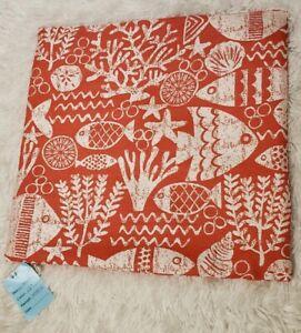 Covington Decorative Fabric Pillow Cover with Zipper 18x18 Orange/White New