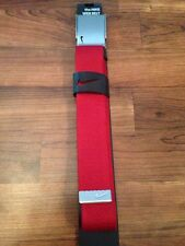 NEW Mens Nike Golf Web Belt - Red - Adjustable to size 42 - Bottle Opener Buckle