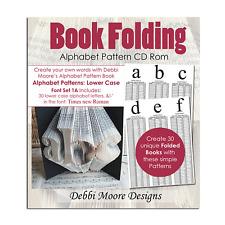 Debbi Moore Book Folding Alphabet Pattern Font Set 1A Lower Case CD Rom (324378)
