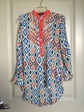 Roar Western Women's Embroidered Button Down Electric Shirt Size small Nashville