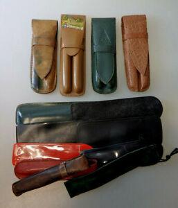 14 div. Etui´s und Taschen für 1 oder 2 Füllfederhalter ab 1935 (76977)