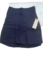 Cherokee Size 8 School Uniform Navy Girls Skirt Nwt Cotton Polyester