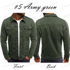 Men's Denim Jean Jacket Coat Pocket Casual Long Sleeve Cardigan Outwear Tops